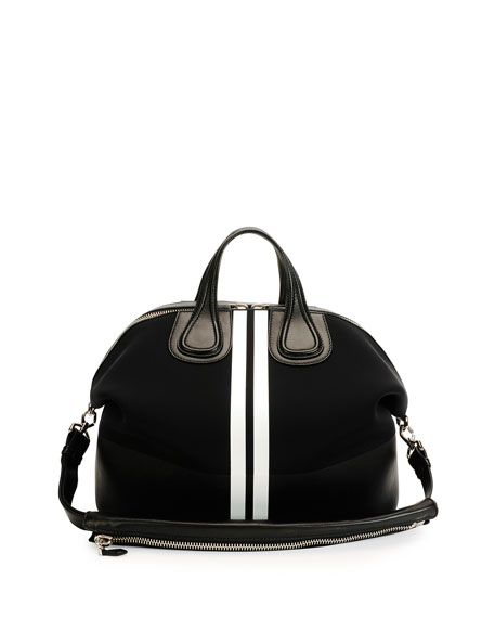Givenchy Men's Nightingale Neoprene Satchel Bag, Black