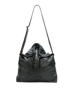 Men's Leather Crossbody Bag, Black