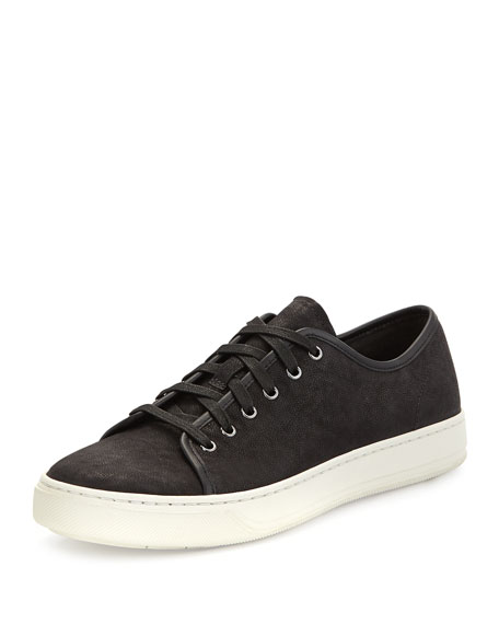 Vince Austin Leather Low-Top Sneaker, Black