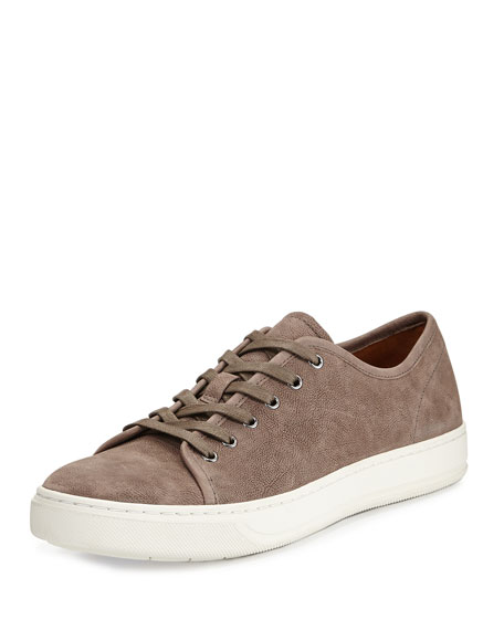 Vince Austin Leather Low-Top Sneaker, Granite