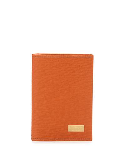 Salvatore Ferragamo Revival Card Case, Orange
