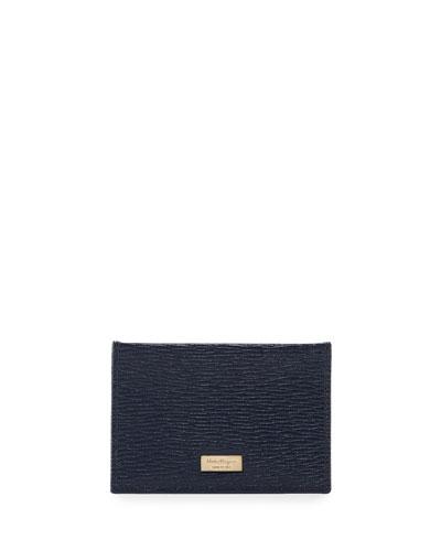Salvatore Ferragamo New Revival Bicolor Flat Case, Blue/Orange