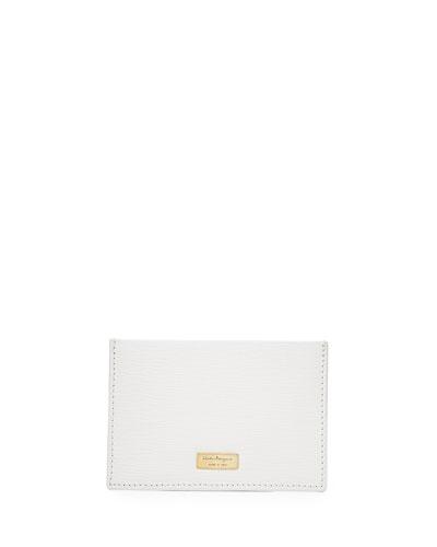 Salvatore Ferragamo New Revival Bicolor Flat Case, Brown
