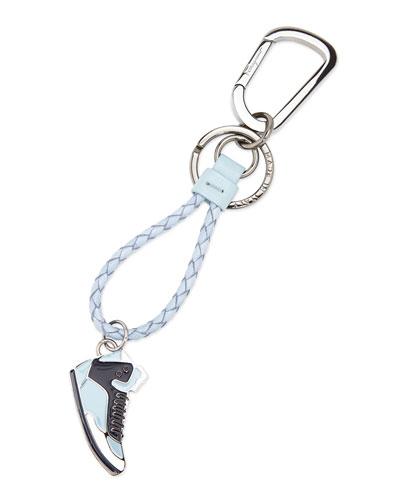 Salvatore Ferragamo Leather Shoe Key Chain, Gray