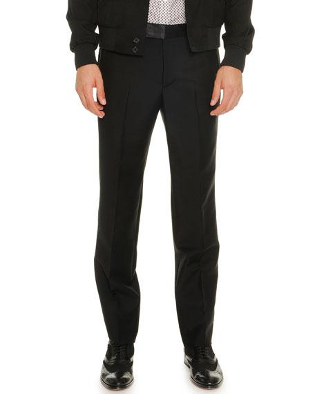 Alexander McQueen Wool/Mohair Trousers, Black