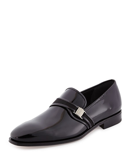 Salvatore Ferragamo Nygel Patent Leather Loafer with Side