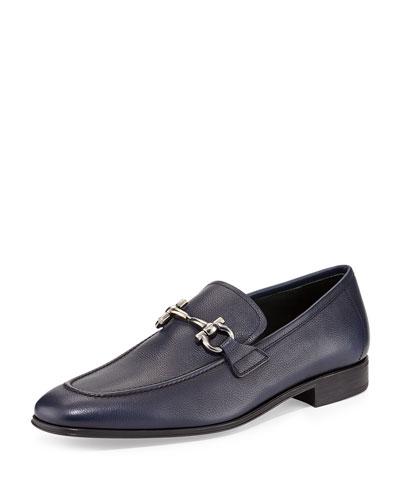 Salvatore Ferragamo Rigel Leather Gancini Loafer