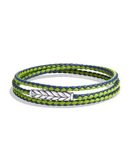 David Yurman Chevron Triple-Wrap Bracelet in Blue and Green