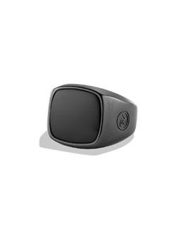 David Yurman Signet Ring with Black Onyx