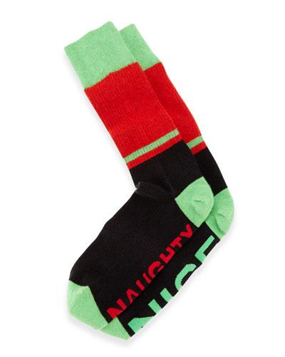 Arthur George by Robert Kardashian Naughty Nice Men's Socks, Black
