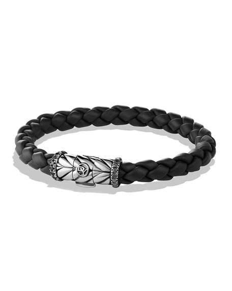 David Yurman Chevron Bracelet in Black with Black