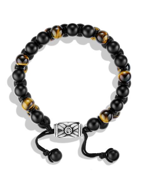 Spiritual Beads Bracelet with Black Onyx and Tiger's Eye