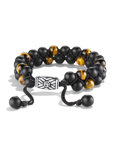Spiritual Beads Bracelet with Black Onyx and Tiger's Eye
