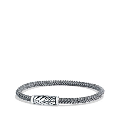 Chevron Bracelet in Gray
