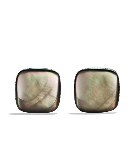 Streamline Cuff Links with Black Mother-of-Pearl