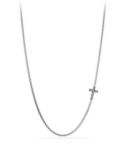Pavé Cross Necklace with Diamonds