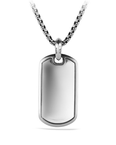 Pave Tag Necklace