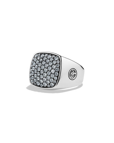Men's Pave Top Signet Ring