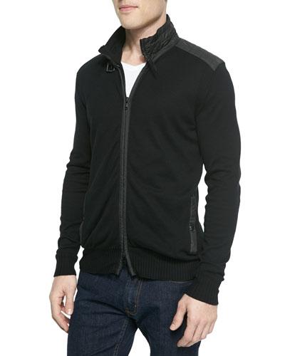 Regent Front-Zip Knit Sweater