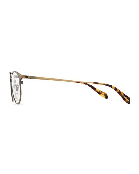 Wildman Men's Round Fashion Glasses, Aged Gold