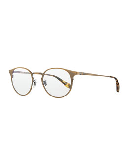 Oliver Peoples Wildman Men's Round Fashion Glasses, Aged Gold
