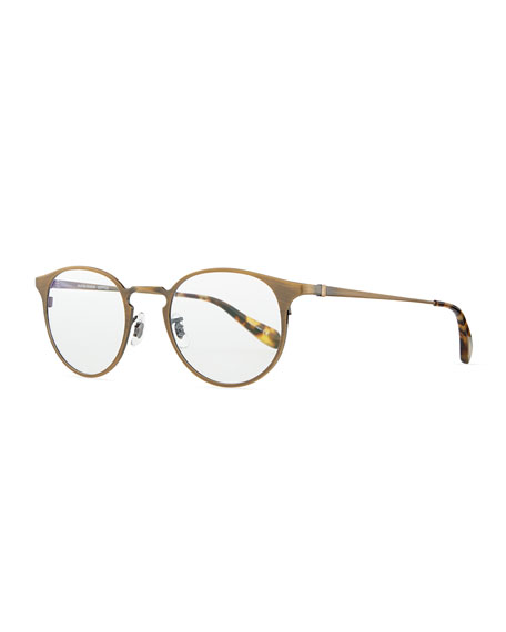 Oliver Peoples Wildman Men's Round Fashion Glasses, Aged