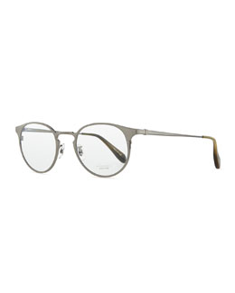 Oliver Peoples Men's Wildman Round Fashion Glasses, Pewter