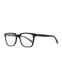Oliver Peoples NDG I Fashion Glasses, Matte Black Olive Tortoise