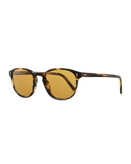 Oliver Peoples Men's Fairmount Plastic Square Sunglasses, Light Brown Tortoise