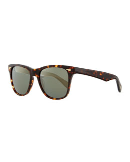 Oliver Peoples Men's Lou 54 Sunglasses, Sable Tortoise