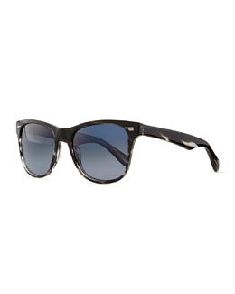 Oliver Peoples Men's Lou 54 Sunglasses, Ebonywood