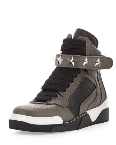 Men's Star Stud Sneaker, Gray/Black