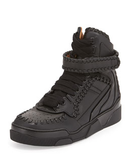 Givenchy Tyson Whipstitch High-Top Sneaker