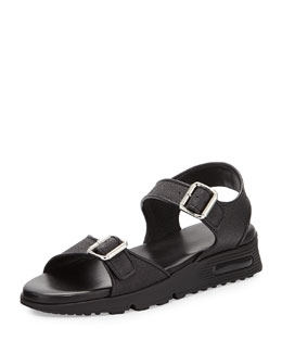 Givenchy Buckled Double-Strap Sandal