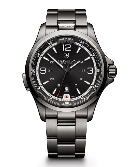 Victorinox Swiss Army Night Vision LED Watch, Silver