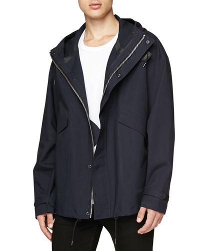 Bonded Cotton Hooded Jacket