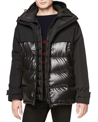 Seam-Sealed Weather-Resistant Puffer Jacket, Black