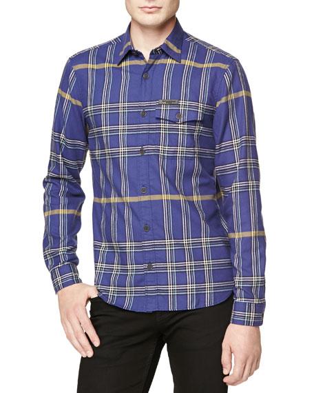 Burberry Brit Lightweight Plaid Flannel Shirt