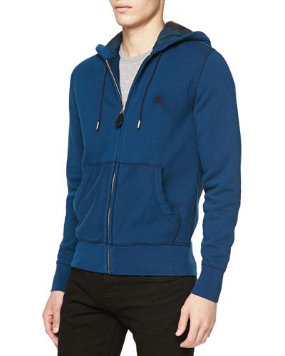 Pearce Zip-Front Hoodie Sweatshirt