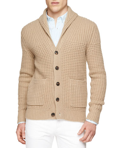 Shawl Collar Chunky-Knit Cardigan