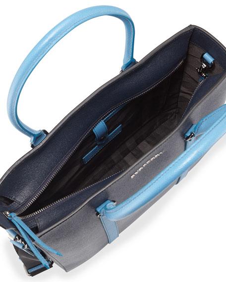 3fe631e8635c Burberry Pebbled Leather Tote Bag