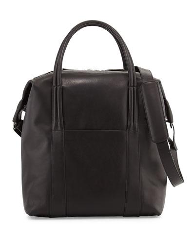 Maison Margiela Men's Leather Zip-Top Tote Bag