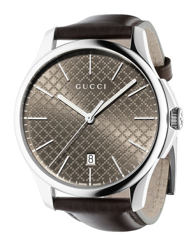 G-Timeless Automatic Watch, Dark Brown