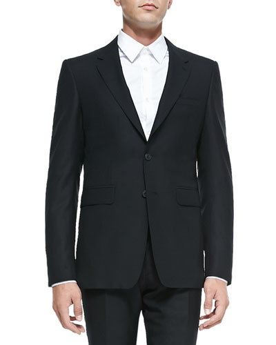 Burberry London Modern-Fit Wool Suit, Black