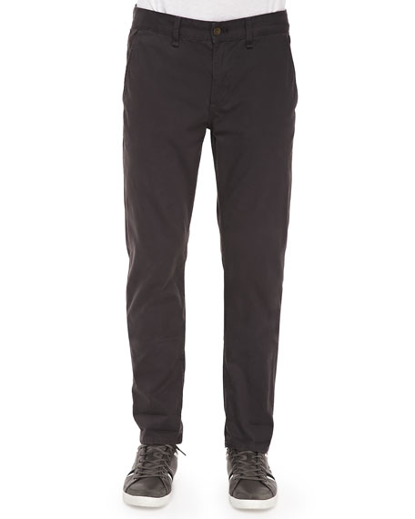 Rag & Bone Four-Pocket Relaxed Trousers, Charcoal