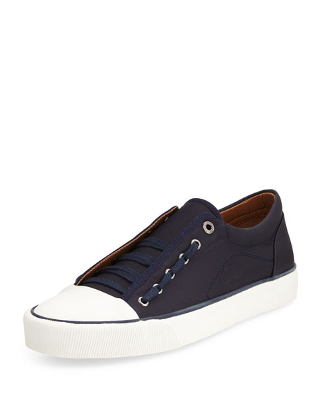 Lanvin Twill Lace-Up Sneaker, Navy