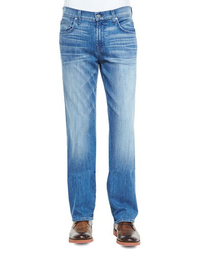 Luxe Performance: Carsen Blue Mist Jeans