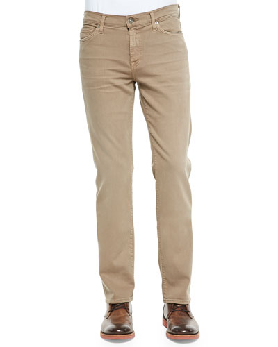 Luxe Performance: Slimmy Sand Jeans