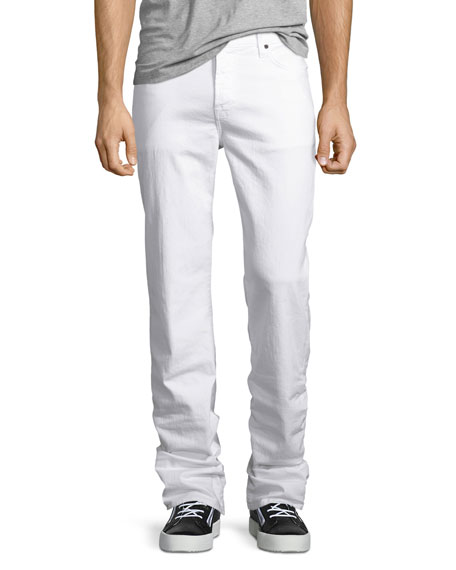 7 For All Mankind Standard Clean White Jeans,