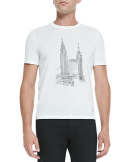 Burberry Prorsum New York City Graphic Tee, White